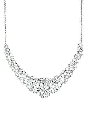 Lord & Taylor Sterling Silver Filigree Frontal Necklace