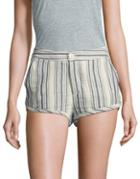 Free People Striped Cotton Shorts