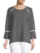 Karl Lagerfeld Striped Roundneck Top