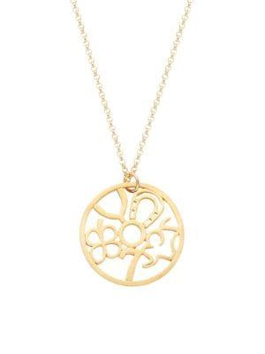 Dogeared Lucky Charm Goldplated Sterling Silver Necklace
