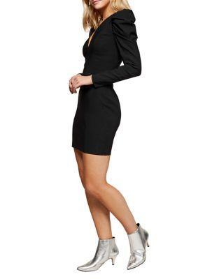 Miss Selfridge Puff-sleeve Mini Dress