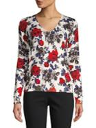 Premise Floral V-neck Pullover