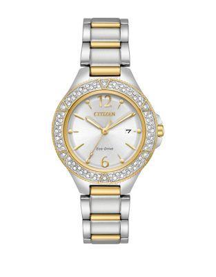 Citizen Eco-drive Swarovski Crsytal Stainless Steel Bracelet Watch