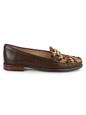 Carvela Leopard-print Leather Loafers
