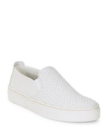 The Flexx Sneak Name Leather Slip-on Sneakers
