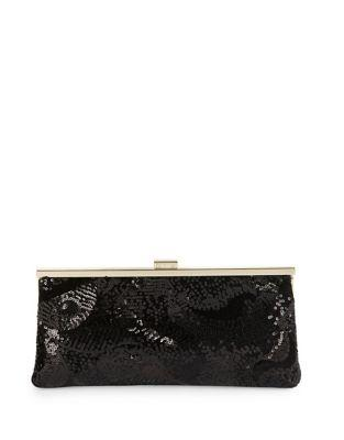 Calvin Klein Sequins Felt Evening Clutch