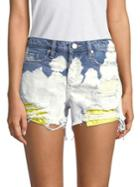 Blanknyc Distressed Cotton Shorts