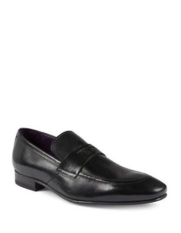 Ted Baker London Almond-toe Leather Loafers