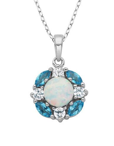 Lord & Taylor Opal Pendant Necklace