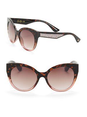 Jessica Simpson 55mm Cat Eye Sunglasses