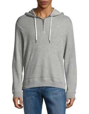 Black Brown Drawstring Hooded Sweater