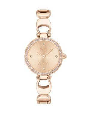 Coach Park Signature Chain Stainless Steel Bracelet Watch