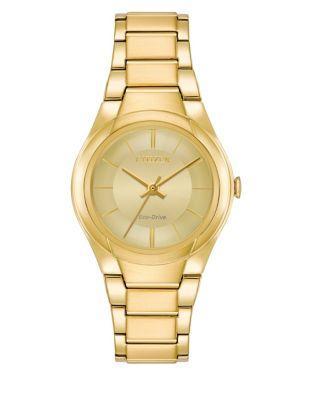 Citizen Eco-drive Polished Goldtone Stainless Steel Bracelet Watch