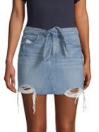 Paige Jeans Distressed Denim Skirt