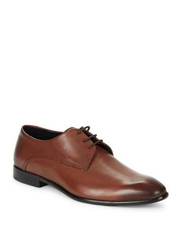 Hugo Boss Burnished Leather Oxford Shoes