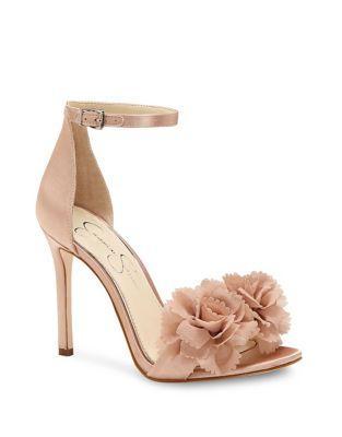 Jessica Simpson Jeena Satin Ankle-strap Sandals