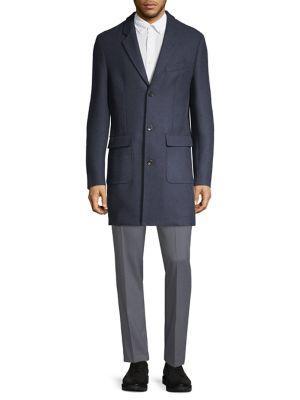 Michael Kors Hampton Button Wool Coat