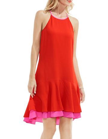 Vince Camuto Contrast Drop Waist Dress