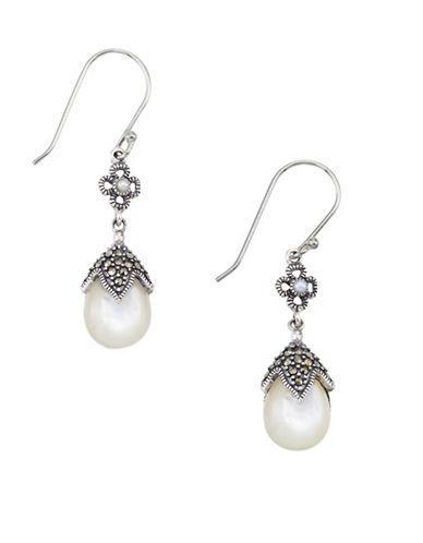 Lord & Taylor 2mm Freshwater Pearl Pear Drop Earrings
