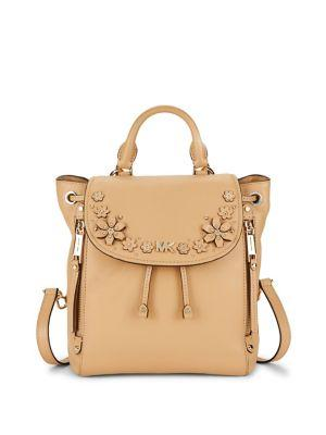 5bc17f7b6958 Michael Michael Kors Evie Small Floral-applique Backpack   LookMazing
