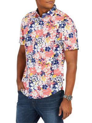Nautica Classic-fit Floral Button-down Shirt