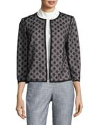 Nipon Boutique Crocheted Open-front Jacket
