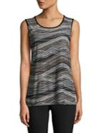 Nipon Boutique Printed Sleeveless Knit Top