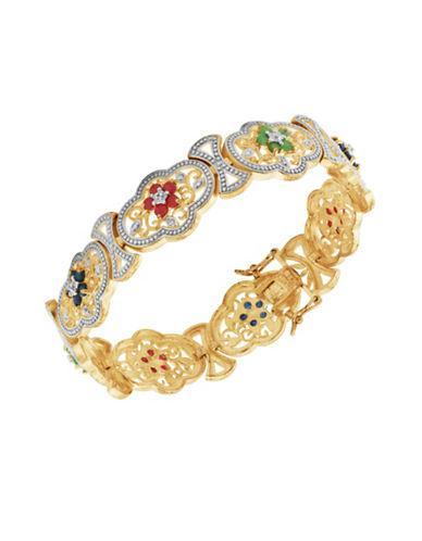 Lord & Taylor Multi-stone Cuff Bracelet