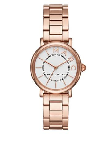 Marc Jacobs Roxy Rose Goldtone Stainless Steel Three-link Bracelet Watch