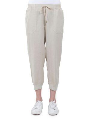 Three Dots Linen Jogger Pants
