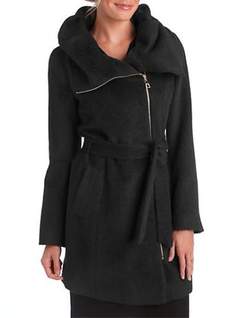 Cole Haan Asymmetrical Zip Coat