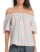 Trina Turk Abilla Checkered Cotton Top