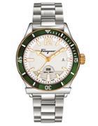 Ferragamo Mens 1898 Sport Silvertone Bracelet Watch