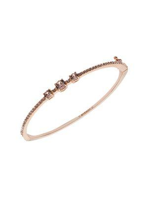 Givenchy Rose Goldplated And Crystal Pave Bangle Bracelet