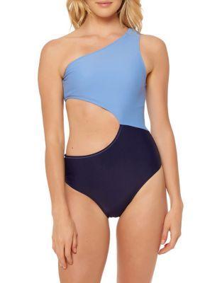 Jessica Simpson One-piece Contrast Panel Swimsuit