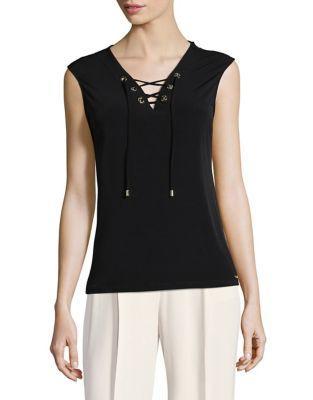 Michael Michael Kors Sleeveless Lace-up Top