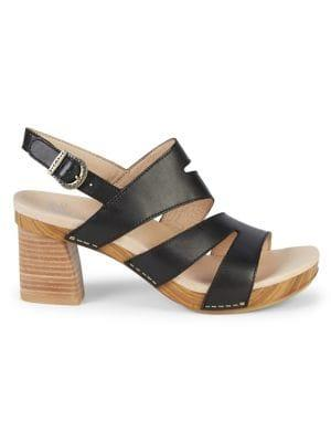 Dansko Ashlee Leather Heeled Sandals