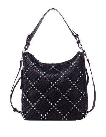 Chinese Laundry Ayo Perforated And Studded Hobo