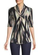 Premise Printed Twisted-front Blouse