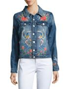 Blank Nyc Embroidered Denim Jacket