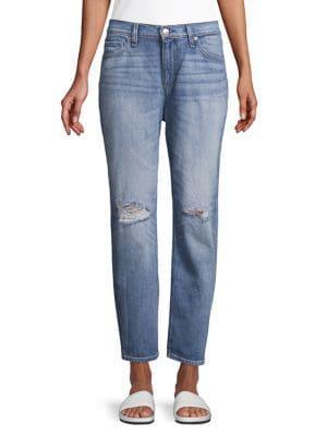 Hudson Jeans Distressed Boyfriend Jeans
