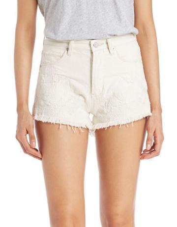Blank Nyc Cut-off Denim Shorts- Off White