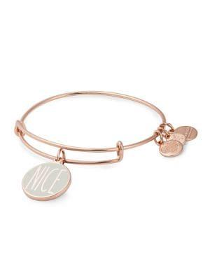 Alex And Ani Rose Goldtone Naughty & Nice Charm Bracelet