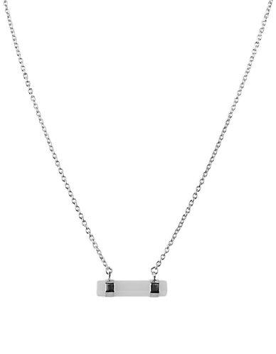 Lord & Taylor Sterling Silver Bar Pendant Necklace