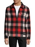 Calvin Klein Jeans Plaid Zip-front Jacket