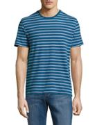 Black Brown Striped Roundneck Tee
