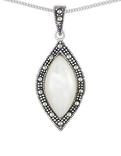 Lord & Taylor Mother Of Pearl Marquise Teardrop Pendant Necklace