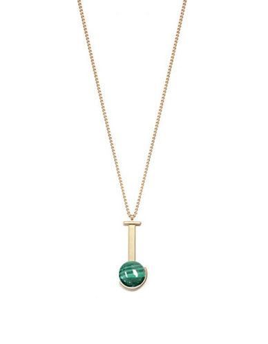 Brika Bizu Semis Malachite Goldplated Chain Necklace