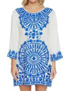 Ella Moss Embroidered Roundneck Tunic
