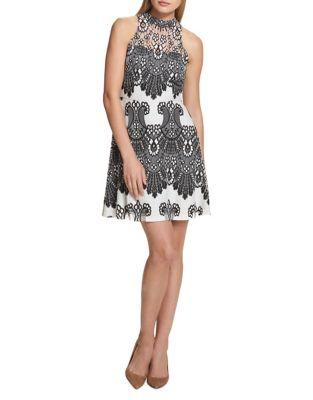 Kensie Dresses Embroidered Floral Lace Dress